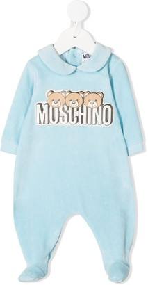 MOSCHINO BAMBINO Teddy logo-print pajamas