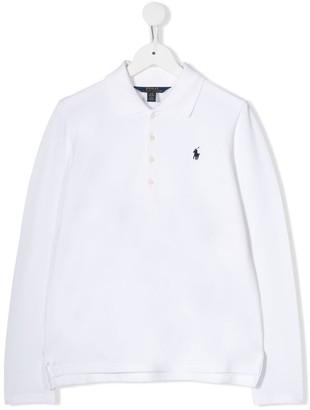 Ralph Lauren Kids Long-Sleeved Polo Top