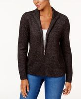 Karen Scott Long-Sleeve Zip Cardigan, Only at Macy's