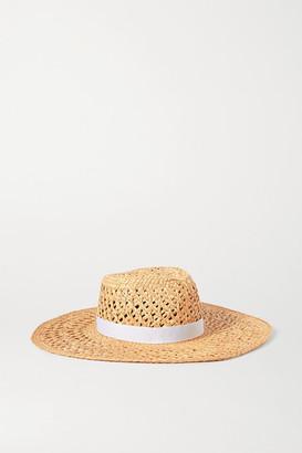 Rag & Bone Grosgrain-trimmed Straw Hat - Beige
