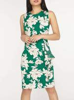 Dorothy Perkins Petite Green Floral Print Bodycon Dress