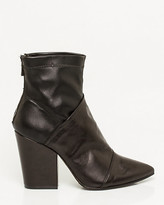 Le Château Italian-Made Leather Pointy Toe Ankle Boot
