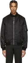 Moschino Black Nylon Bomber Jacket