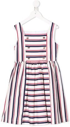 Patachou Striped Pinafore Dress