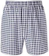 Navy Gingham Woven Boxers Size Large