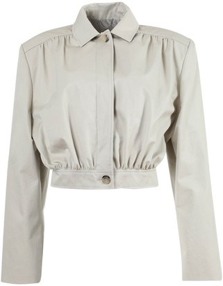 Magda Butrym Ipswich Cropped Jacket Neutral