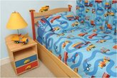 Room Magic Boys Like Trucks Twin Duvet Cover/Bedskirt/Sham Set