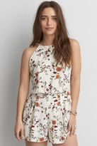 American Eagle Outfitters AE Tie Floral Romper