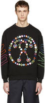 Moschino Black Embroidered Mirror Logo Pullover