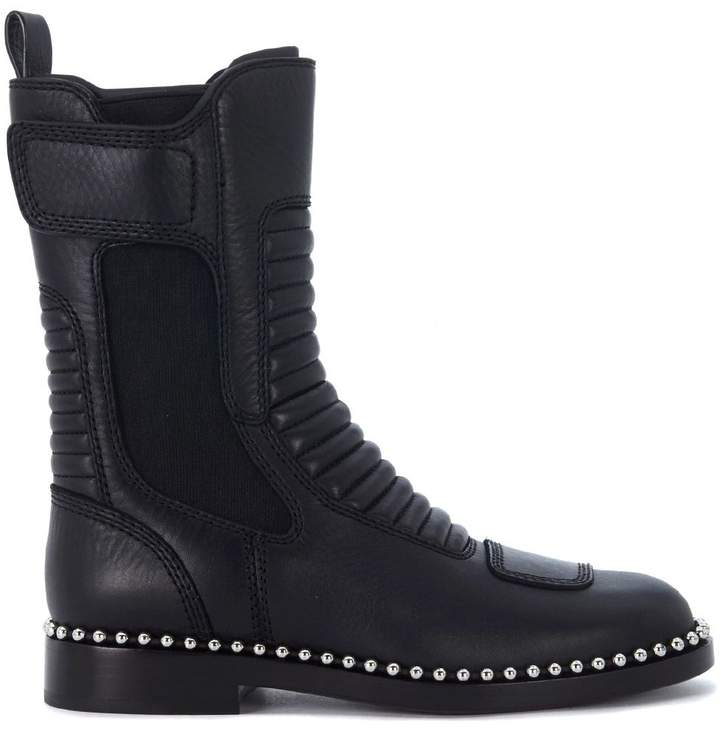 Alexander Wang Mica Black Leather Ankle Boots