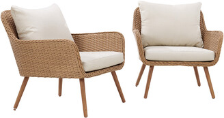 Crosley Landon 2Pc Outdoor Wicker Chair Set