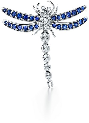 Tiffany & Co. Enchant dragonfly brooch in platinum with sapphires, medium