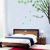 Custom PopDecals - Corner branches - Close to the upper right edge of the wall - Beautiful Tree Wall Decals for Kids Rooms Teen Girls Boys Wallpaper Murals Sticker Wall Stickers Nursery Decor Nursery Decals