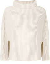 Jil Sander ribbed roll neck poncho