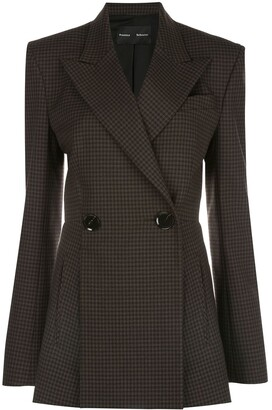 Proenza Schouler Checked Cut-Out Panel Blazer