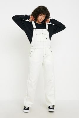 Urban Outfitters Carhartt Wip Carhartt WIP Straight Leg White Dungarees - white XS at