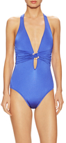 Trina Turk Garden Party Criss-Cross Back One Piece Swimsuit