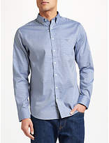 Gant Two Ply 80s Pinpoint Cotton Check Oxford Shirt, Blue