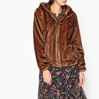Oakwood Connecting Short Hooded Faux Fur Coat