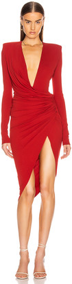 Alexandre Vauthier Jersey Midi Dress in Currant | FWRD