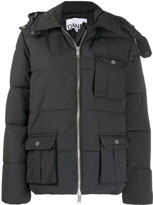 Ganni Hooded Padded Jacket