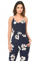 AX Paris Navy Floral Print Jumpsuit