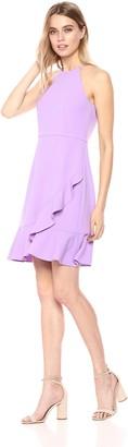 Donna Morgan Women's Crepe Halter Neck Dress