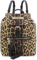 Moschino Nylon Backpack With Leather Details