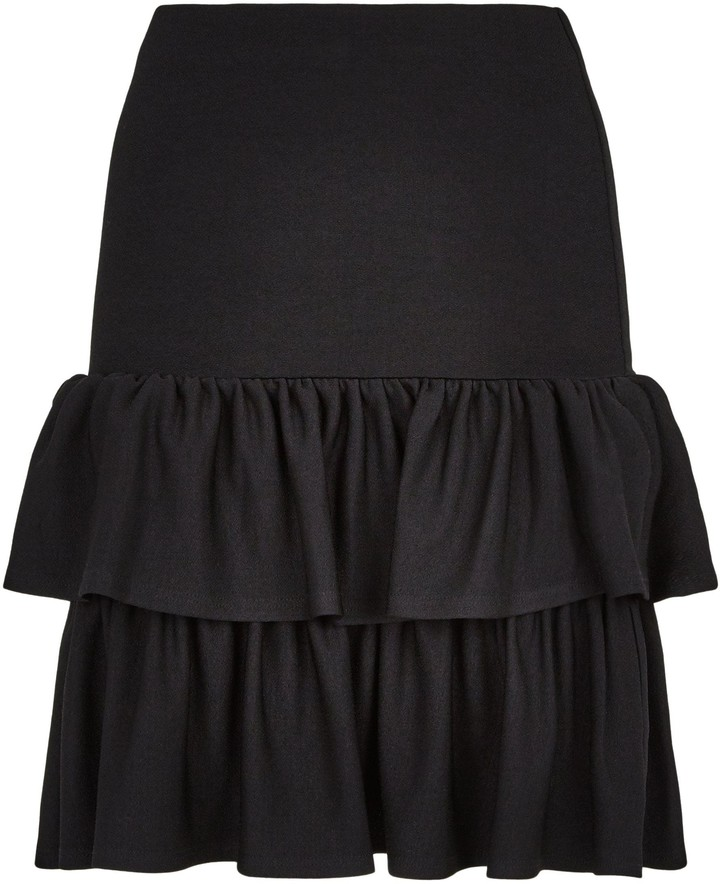 Thumbnail for your product : New Look Tiered Ruffle Hem Mini Skirt