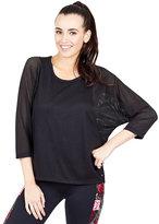 Betsey Johnson Mesh Batwing Sleeve Pullover