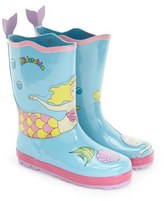 Kidorable Girl's 'Mermaid' Waterproof Rain Boot