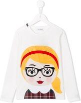 Dolce & Gabbana 'Back to School' girl T-shirt - kids - Silk/Cotton/Polyamide/Virgin Wool - 6 yrs