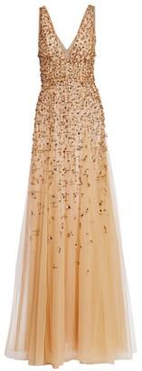 J. Mendel Embellished Tulle Gown