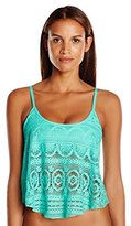 Kenneth Cole Reaction Women's Suns Out Buns Out Crochet Flyaway Tankini