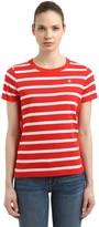 Champion Logo Detail Striped Cotton T-shirt