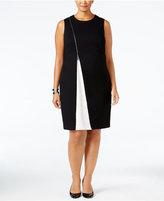 Alfani Plus Size Colorblocked Sheath Dress, Only at Macy's