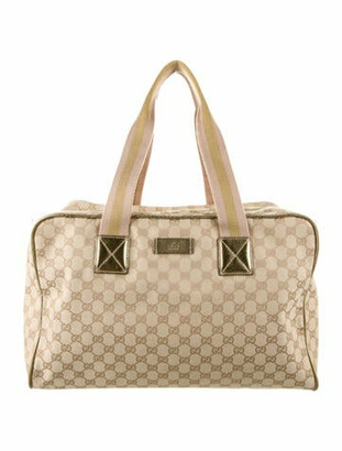 Gucci GG Canvas Collapsible Carry-On Duffel Gold
