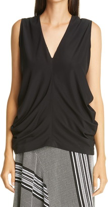 Zero Maria Cornejo Swing Ruched Stretch Silk Top