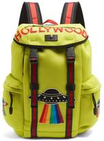 Gucci Hollywood-embroidered Mesh Backpack