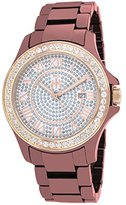 Jivago Women's JV9416 Ceramic Analog Display Quartz Multi-Color Watch