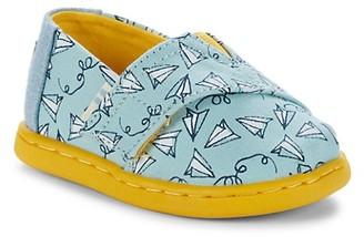 Toms Kid's Alpa Paper Plane-Print Canvas Shoes
