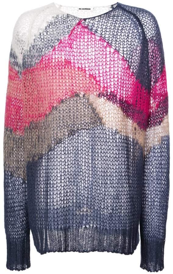 Jil Sander colour-block oversized sweater