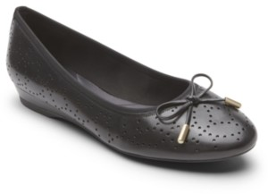 Rockport Women's Total Motion Shea Perforated Bow Flats Women's Shoes