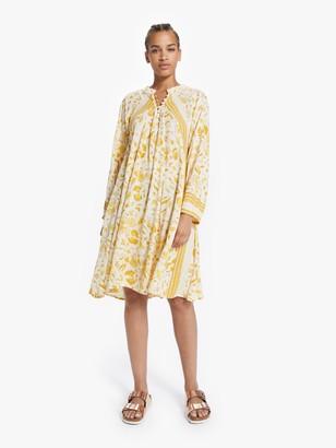 Natalie Martin Fiore Short Dress - Wildflower Saffron
