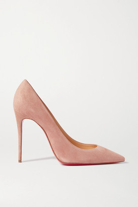 Christian Louboutin Kate 100 Suede Pumps - Neutral