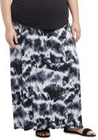 Motherhood Plus Size Fold Over Belly Lightweight Maternity Skirt