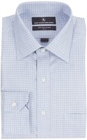 Hart Schaffner Marx Non-Iron Classic-Fit Spread Collar Checked Dress Shirt