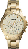 Fossil Men's Chronograph Crewmaster Gold-Tone Stainless Steel Bracelet Watch 46mm CH3061