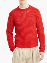 Rick Owens Red Chunky-knit Sweater