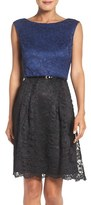 Ellen Tracy Lace Fit & Flare Dress (Regular & Petite)